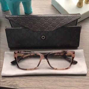 Gucci tortoise shell eye glasses